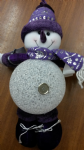 PURPLE LED SNOWMAN 22380